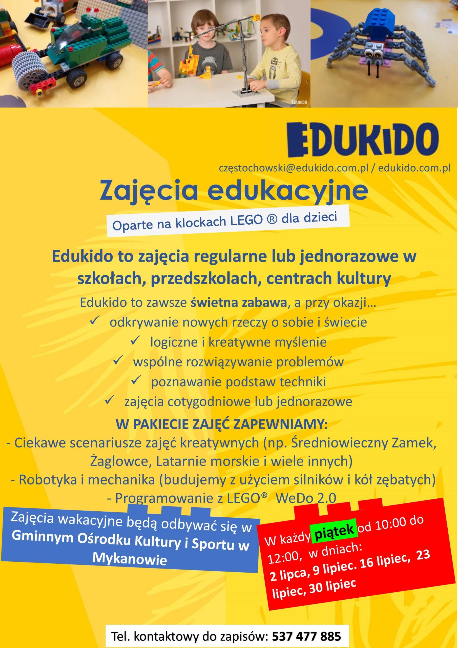 EDUKIDO zaprasza na zajęcia w GOKISie :)