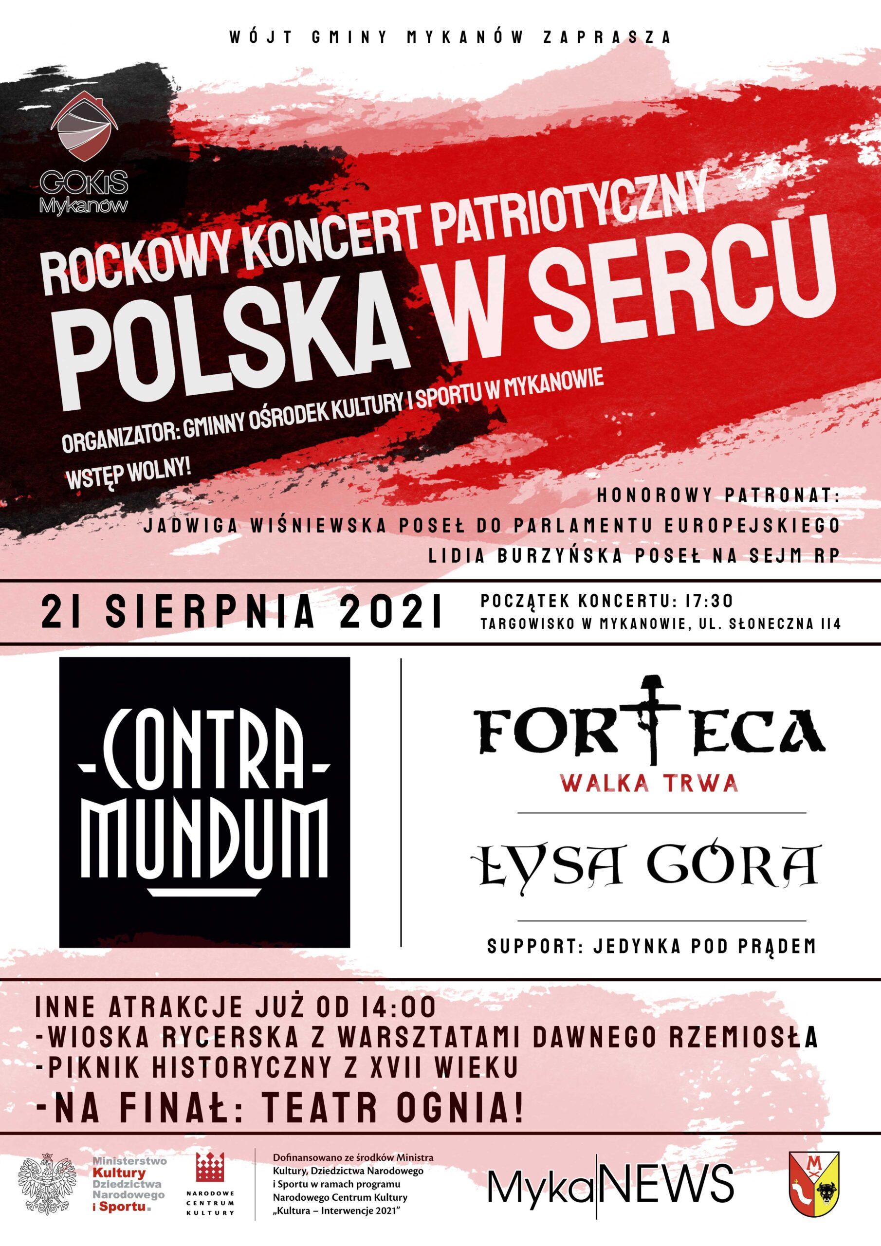 """Zapraszamy na koncert """"Polska w Sercu"""""""